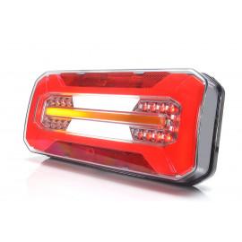LED Schlussleuchte rechteckig WAS, 306x133x60, mit dynamischen Blinker
