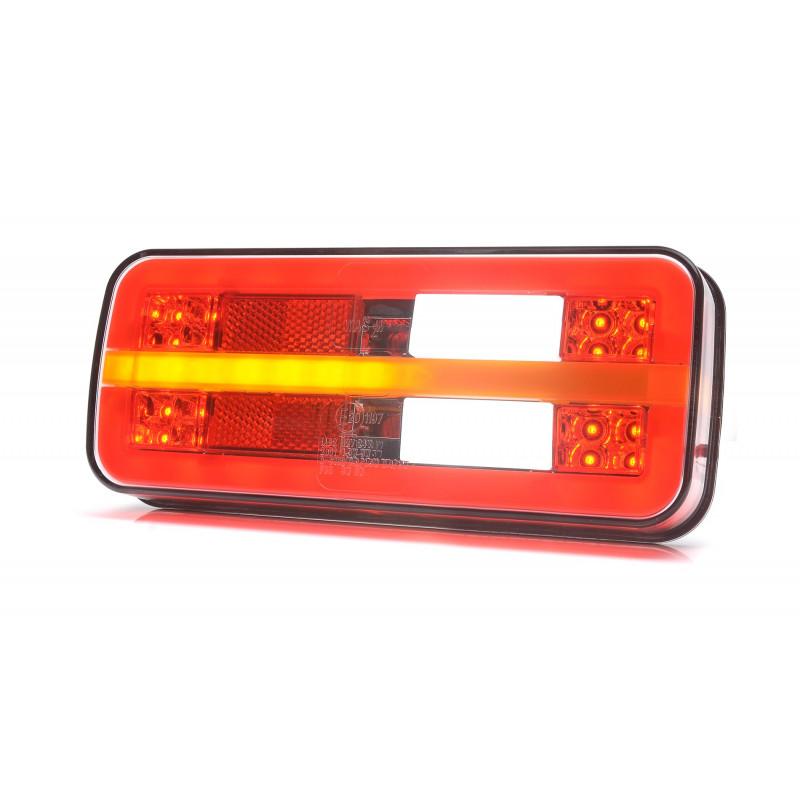 LED Schlussleuchte rechteckig WAS, 200x85x29, mit dynamischem Blinker