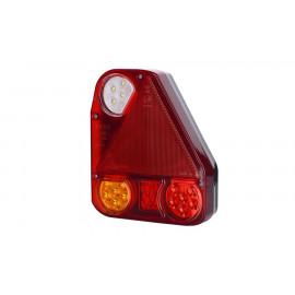 LED Rückleuchte mit Dreieckrückstrahler 174x207x55, rechts