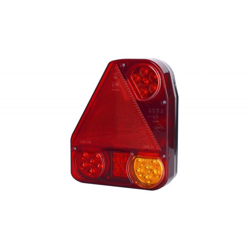 LED Rückleuchte mit Dreieckrückstrahler 174x207x55, links
