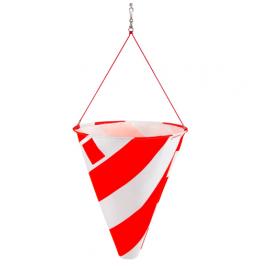 Warnsignal Windflagge mit Reflexeinsätzen, für Überlängen Signalisation