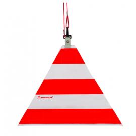 Warnsignal dreieckig 2D, für Überlängen Signalisation mit Seil