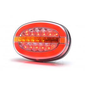 LED Rückleuchte oval mit dynamischem Blinker, 136x91x40