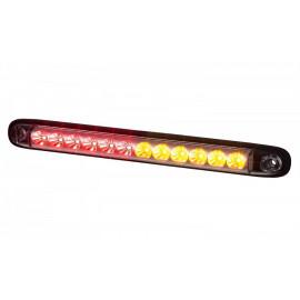 LED Stab Rückleuchte mit Blinker klarglas, 12-24V, 257x27x20