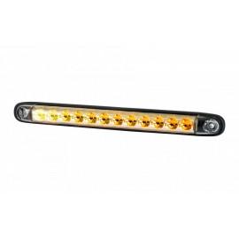 LED Stab Blinkleuchte dynamisch hinten klarglas, 12-24V, 257x27x20