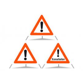 TRIOPAN Faltsignal 60 Kombi mit Etui, Andere Gefahren - Kranarbeiten