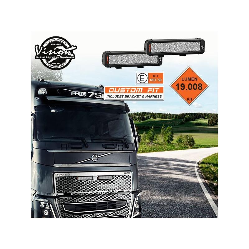 LED Fernlicht Set ohne Standlicht, für Kühlergrill Volvo FH 2012+