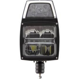 LED Aufbau Hauptscheinwerfer mit Scheibenheizung 12/24V, Blinker vertikal
