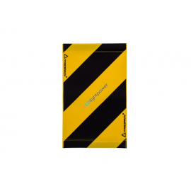 Warnsignal für Hebebühne 30x20, schwarz-gelb
