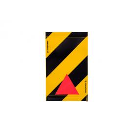 Warnsignal für Hebebühne 30x20, schwarz-gelb, mit Reflexecke