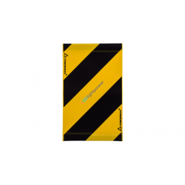Warnsignal für Hebebühne 47x28, schwarz-gelb