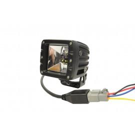 LED Arbeitsscheinwerfer 12W DAKAR Edition, rot/weiss, Breitstrahler, 12-24V, 4 Jahre Garantie