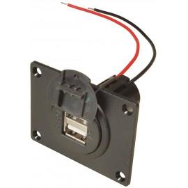 USB Einbausteckdose 12-24V zu 5V, 2x 2500mA