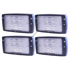 Sparpaket, 4 Stk. LED Einbauscheinwerfer, Ersatz für Hella Modul 6213 Scheinwerfer