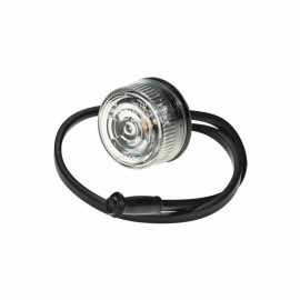 LED Positionsleuchte weiss, rund 27mm, 12-24V