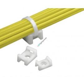 Schraubsockel weiss für Kabelbinder