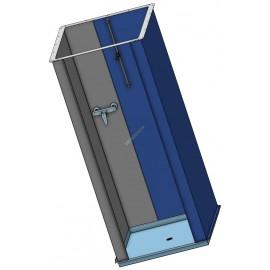 Modulare Duschkabine rostfrei V4A