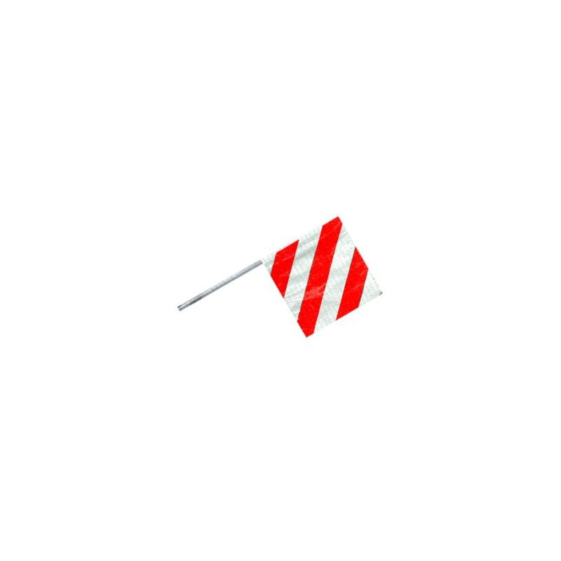Fahne für Überbreite rot/weiss