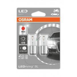 2er Set OSRAM LEDriving Birne BAY15d, 21/5W Ersatz, rot