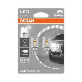 2er Set LED Birne 12V OSRAM LEDriving W16W, weiss