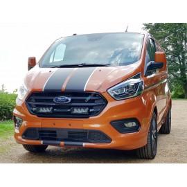 Kühlergrill Kit für Ford Transit Custom MY 2018+, für LAZER Triple-R Fernlichter