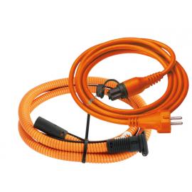 DEFA - 230VAC Anschluss-Set 5.0m *orange* mit Stecker/Dose