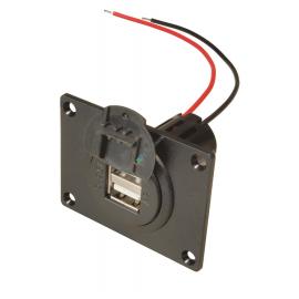 USB Einbausteckdose 12-24V-5V 2x 2500mA