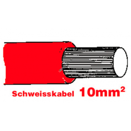SGF Anlasserkabel hochflexibel 10mm rot