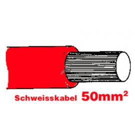 SGF Anlasserkabel hochflexibel 50mm rot