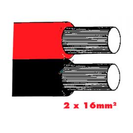 Twinflex 2x16mm2 Batteriekabel rot/sz