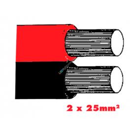 Twinflex 2x25mm2 Batterriekabel rt/sz.