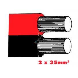 Twinflex 2x35mm2 Batteriekabel rot/sz.