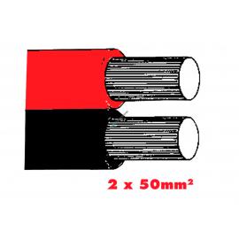 Twinflex 2x50mm2 Batteriekabel rot/sz.