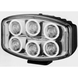 LED Fernlichtscheinwerfer oval mit 6 Standlichtringen