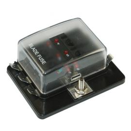 Stecksicherungsdose 6-polig mit LED-Ausfallanz.