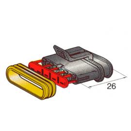 Steckergehäuse SUPERSEAL 1.5, 5-polig