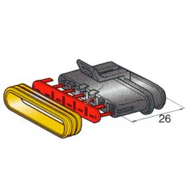 Steckergehäuse SUPERSEAL 1.5, 6-polig