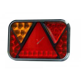 LED Schlussleuchte links mit Dreieckrückstrahler 200x130, 12V mit integrierter Blinkerlast