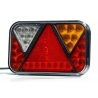 LED Schlussleuchte rechts mit Dreieckrückstrahler 200x130, 12V mit integrierter Blinkerlast