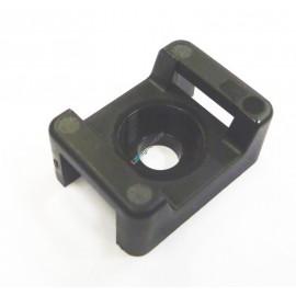 Schraubsockel schwarz für Kabelbinder, M5