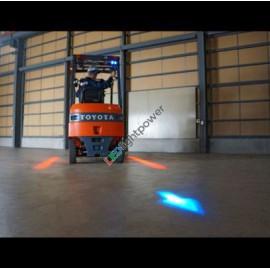 LED Pfeil Projektorscheinwefer blau für Stapler, 9-80V