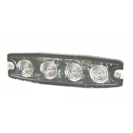 LED Frontblitzer superflach 6.6mm gelb, 12-24V, ECE-R10