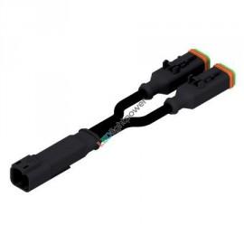 Y-Verteiler DEUTSCH 2-polig umspritzt, mit je 0.4m Kabel, 0.75mm2