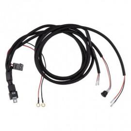 Kabelset mit Relais, Sicherung und Schalter mit LED, 12 oder 24V, OSRAM AX 2LS, für zwei Scheinwerfer