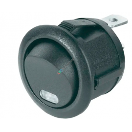 Kippschalter rund,  Schliesser off-on, rastend mit LED Kontrollleuchte