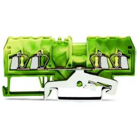 4-Leiter-Klemme Wago 2,5mm2 gelb/grün