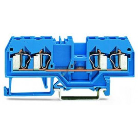 4-Leiter-Klemme Wago 2,5mm2 blau