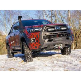 Kühlergrill Kit für den Toyota Hilux invinvible-X 2021-, für LAZER Triple-R Fernlichter
