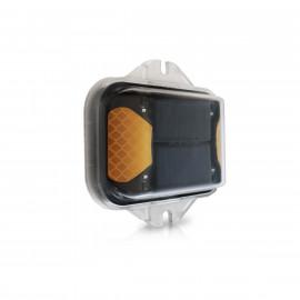 Solar LED Warnleuchte für Gefahrenzonen
