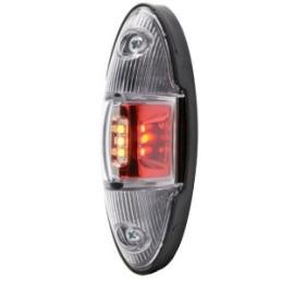 LED Positionsleuchte rot/weiss/orange klarglas